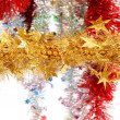 Stock Photo: Christmas decoration on white background.