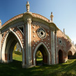 Tsaritsino museum and reserve in Moscow. Bridge (panoramic image) — Стоковая фотография