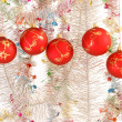 Christmas decoration on white background. — Stock Photo