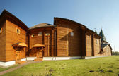 Wooden palace in Kolomenskoe (panorama).Moscow, Russia — Stock Photo