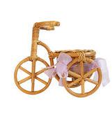 Estatueta de lembrança de uma bicicleta no fundo branco — Fotografia Stock