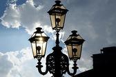 Tło dekoracyjne lampy uliczne — Zdjęcie stockowe