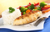 Chicken Breast with Vegetables and Rice — Stock Photo