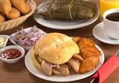 Typical Peruvian Breakfast — Stock Photo