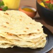 Indian Flatbread Called Chapati - Stock Photo