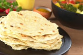 Indian Flatbread Called Chapati — Stock Photo