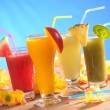 Smoothies with Straws — Stock Photo