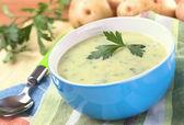 Potato Soup with Herbs — Stock Photo