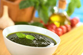Pesto Made of Basil — Stock Photo