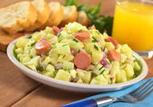 Potato Salad with Sausage — Stock Photo