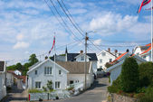 Street in Grimstad, Norway — Stock Photo