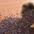 Raw Red Quinoa Grains - Stock Photo