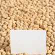 Raw White Chickpeas with Blank Card — Stock Photo #5938136