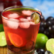Refreshing Homemade Red Grape Lemonade — Stock Photo