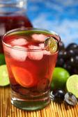 Refreshing Homemade Red Grape Lemonade — Stock Photo