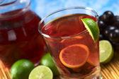 Fresh Homemade Red Grape Lemonade — Stock Photo