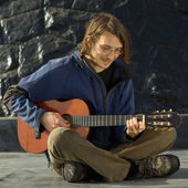 Young Man Playing the Guitar — Stock Photo
