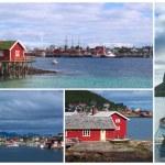 Collage of the Coastal Town of Reine, Lofoten, Norway — Stock Photo #5974572