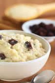 Delicious Rice Pudding with Raisins — Stock Photo