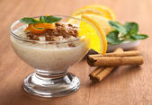 Delicious Rice Pudding with Cinnamon — Stock Photo