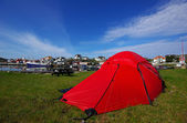 Camping on Hyppeln, Sweden — Stock Photo