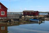 Kallo knippla 在瑞典的岛上的码头 — 图库照片