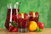 Refreshing Sangria — Stock Photo