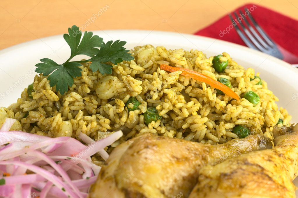 Arroz Con Pollo Peruano Arroz Con Pollo Rice With
