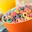 Colorful Cereal Loops with Different Fruit Flavour — Stock Photo #6169170
