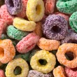 Colorful Cereal Loops with Different Fruit Flavour — Stock Photo #6169174