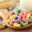 Colorful Cereal Loops with Different Fruit Flavour — Stock Photo #6169183