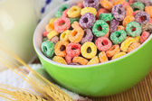 Colorful Cereal Loops with Different Fruit Flavour — Stock Photo