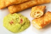 Tequenos and Guacamole — Stock Photo