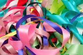 Multi-colored satin ribbons — Photo