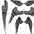 Angel wings — Vector de stock