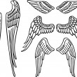 Stockvektor : Angel wings