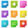 Education sticker icons — Stock Vector