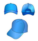 Light-blue cap vector illustration — Stock Vector