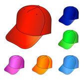 Multicolored caps vector illustration — Stock Vector