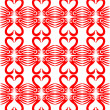 Pattern with hearts and swan — Stock Vector