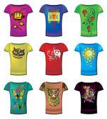Women t-shirts — Stock Vector