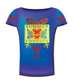 Design de t-shirt — Vetorial Stock