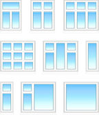 Plastic windows in color — Stock Vector