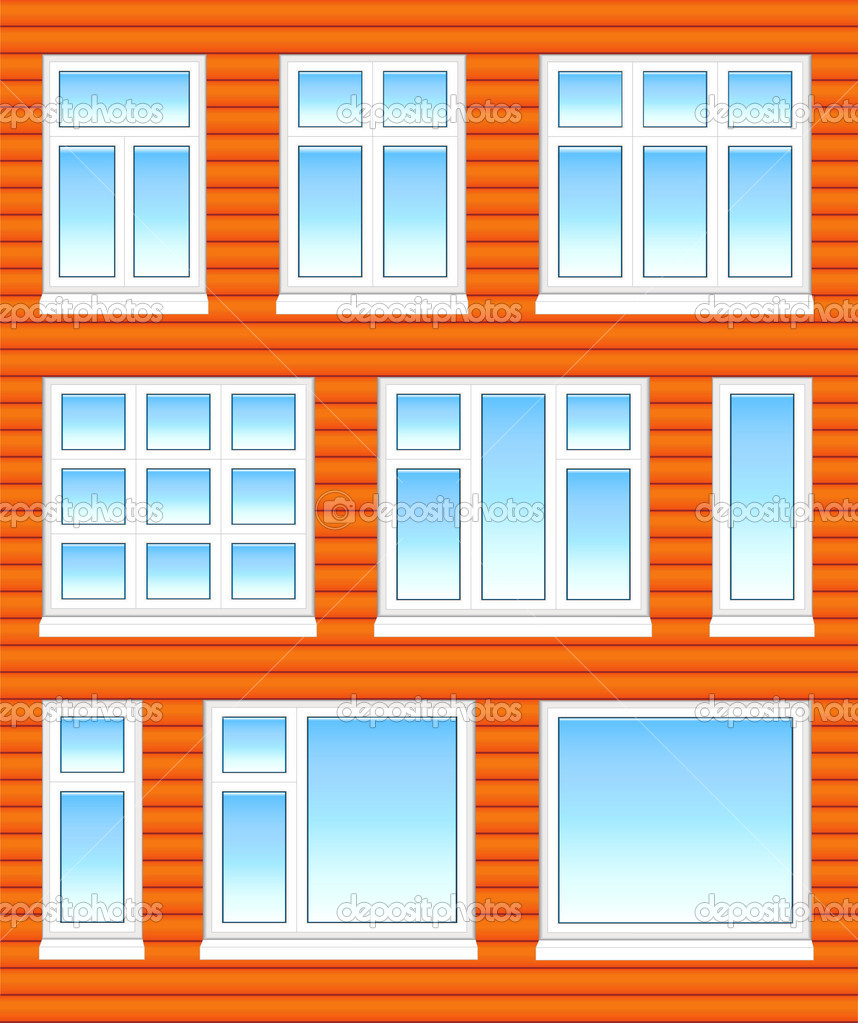 Finestre di plastica in colore vettoriali stock - Stock finestre pvc ...