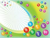 Vitamins background — Stock Vector