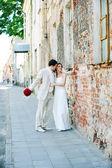 Lo sposo e la sposa — Foto Stock