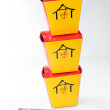 Asian fast food boxes on white — Stock Photo #5547064