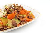 Grönsaker och kött — Stockfoto