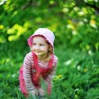 Playful little girl — Stock Photo