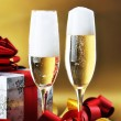 Two glass with champagne — Stock Photo #5780194